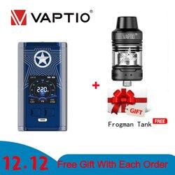 220 Вт Vape мод Vaptio Capt'n мод электронная сигарета vaping подходит для двух аккумуляторов 18650 для атомайзера с резьбой 510