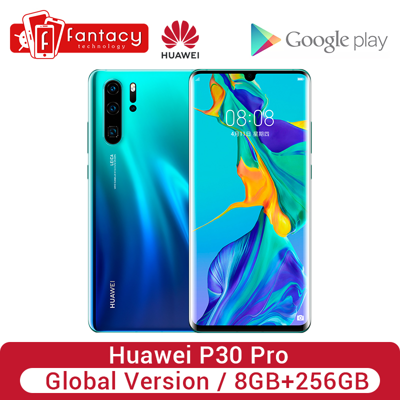 Global Version Huawei P30 Pro 8GB 256GB Smartphone 5x Optical Zoom Quad Cameras 6.47'' Full Screen OLED Kirin 980 NFC 4200mAh