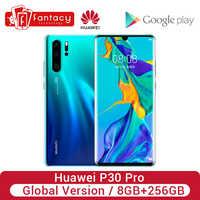 Version mondiale Huawei P30 Pro 8 go 256 go Smartphone 5x Zoom optique quatre caméras 6.47 ''plein écran OLED Kirin 980 NFC 4200mAh