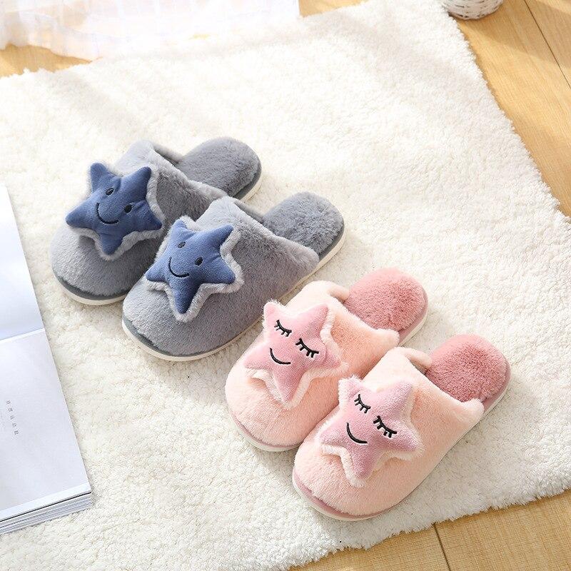 Hba5002006f954cdbb6fefbb0102dbc553 Shofort chinelos de algodão macio feminino, sapatos caseiros para casal quentes de inverno de casa antiderrapante sapatos com calçados