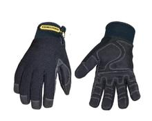100% waterproof, windproof, wear-resistant and antiskid, durable, smart, comfortable and warm winter work gloves(X-Large,Black)