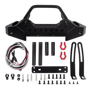 Image 5 - Черный металлический передний бампер с буксировочным крючком для 1:10 радиоуправляемого гусеничного автомобиля Axial SCX10 90046 SCX10 III AXI03007 Traxxas TRX 4