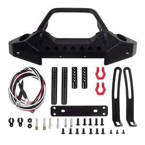 Image 5 - Black Metal Front Bumper with Tow Hook for 1:10 RC Crawler Car Axial SCX10 90046 SCX10 III AXI03007 Traxxas TRX 4