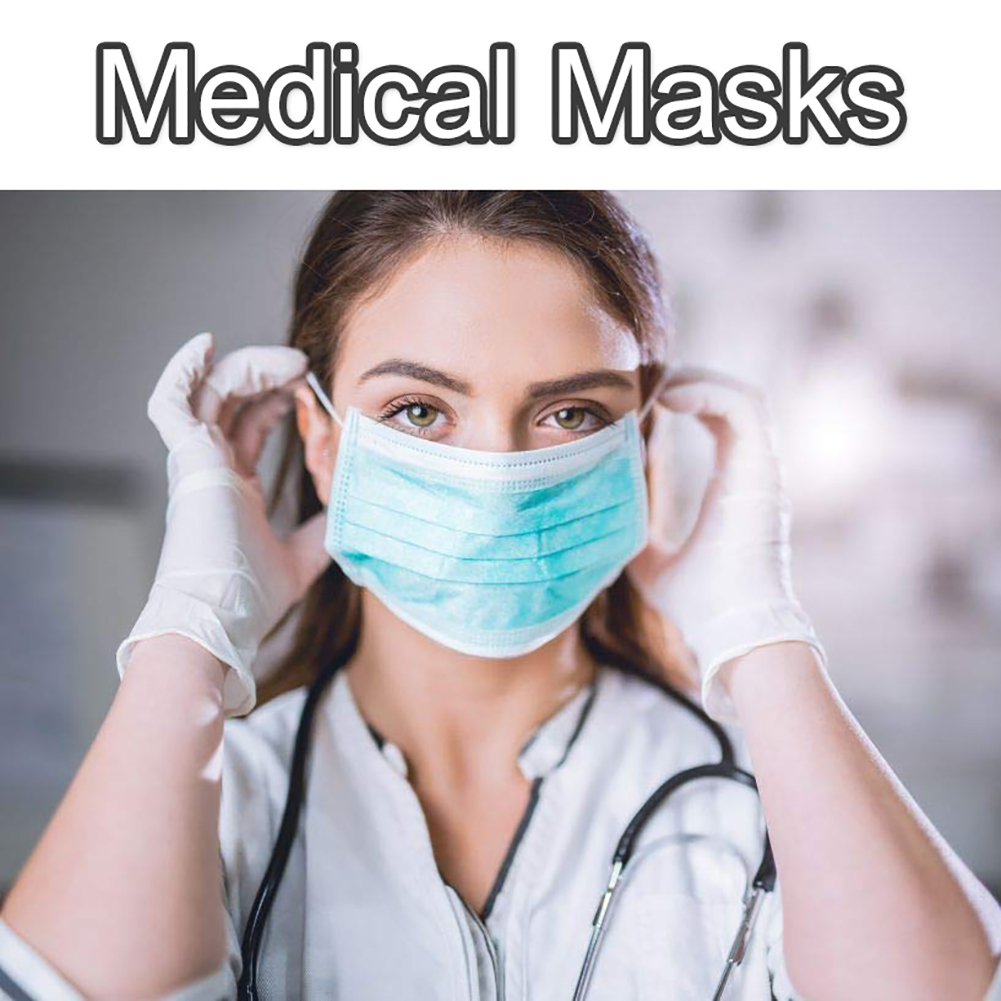 10pcs Disposable Surgical Mask Anti Influenza Masks Protective Cover Masks Anti-Dust Anti-fog Anti-virus 3 Layers Mouth Mask