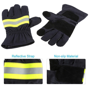 1 Pair Heat Insulation Fire Proof Gloves Protection Supplies For Welding And Cold Weather Firefighting Gloves kopilova 1pairs welding gloves cow suede lengthen fire proof sputtering protection gloves wear resisting for finger protection