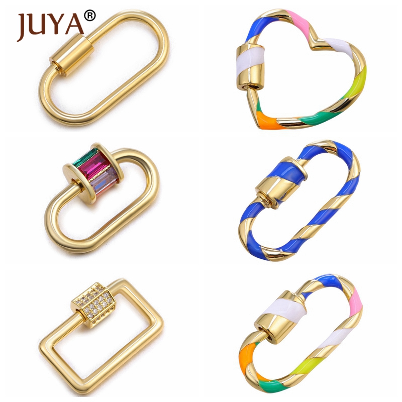 Juya DIY Jewelry Making Accessories New Trendy Popular Hanging Chain Lock Hook Spiral Clasps DIY Necklace Bracelets Hand Made