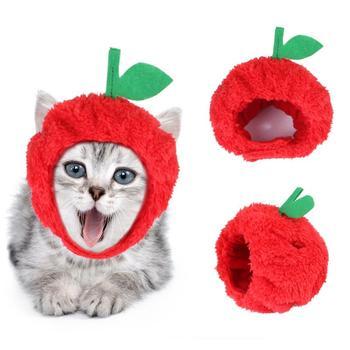 Pet Hat Teddy Dress Up Apple Headdress Cat Dew Ears Headgear