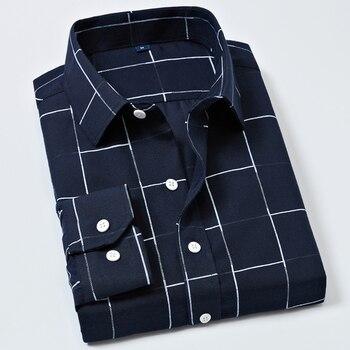 Plaid shirts men business dress long sleeve shirt Slim Chemise Homme Office dress shirts men's blouse Male New button up shirt button up long sleeve plaid shirt