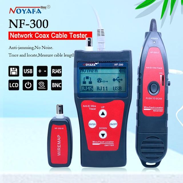 Тестер Lan NF_300 l, тестер кабеля RJ45 с ЖК дисплеем, сетевой монитор, проводной трекер без шумовых помех, NOFAYA NF 300