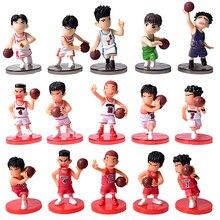 5 pièces/lot SLAM DUNK Shohoku joueur de basket ball figurines jouets Hanamichi Rukawa Kaede Sakuragi Anime modèle jouets
