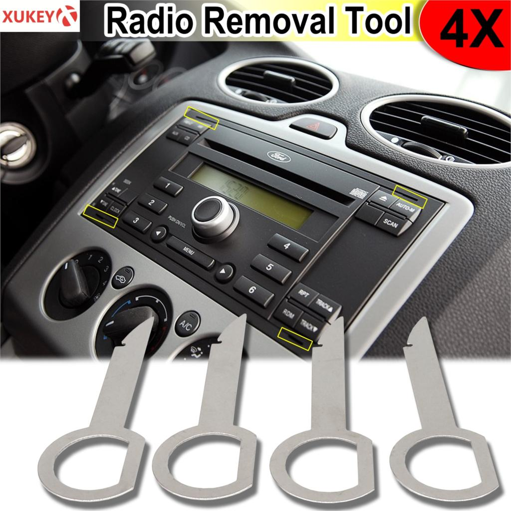 4pcs Radio Stereo Removal Extractor Key Release Pin Head Unit Audio Install Tool For VW Audi Ford Mercedes Benz Skoda Car Parts