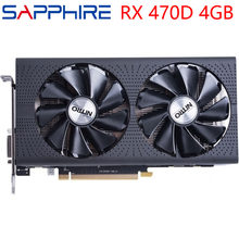 SAPPHIRE Video Karte RX 470D 4GB 256Bit GDDR5 Grafiken Karten für AMD RX 400 serie VGA Karten RX 470 D 570 580 480 460 560 Verwendet