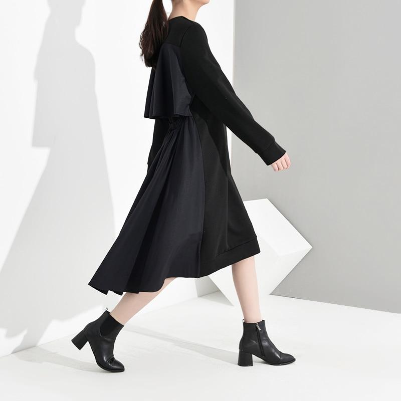 New Fashion Style Back Pleated Hollow Out Asymmetrical Dress Fashion Nova Clothing
