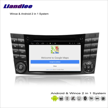 Liandlee For Mercedes Benz E Class W211 2002~2009 Car Radio DVD Player GPS Nav Map Navigation Wince & Android 2 in 1 S160 System image