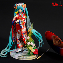 лучшая цена NEW hot 23cm Hatsune Miku kimono Action figure toys doll collection Christmas gift with box