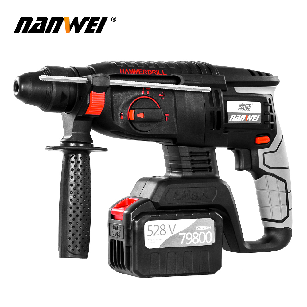 21V 328TV/398TV Cordless Hammer Drill Rotary Hammer Kit Lithium Battery & Quick Charger