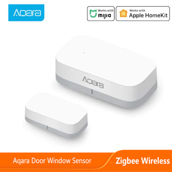 ZigBee Aqara-Sensor de ventana de puerta inalámbrico, Mini Sensor de puerta debe trabajar con Hub de enlace para Control de aplicación remota Smart Home