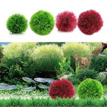 1 pcs Plastic Aquarium Plants Artificial Aquatic Grass Ball Fish Tank Ornament Decoration New Arrive
