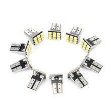 10 pièces T10 LED 9SMD blanc voiture plaque d'immatriculation lumière queue ampoules 2825 192 194 168 W5W pour voiture SUV camion