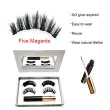 5 магнитных смешанных ресниц Набор Магнитных жидких подводок для глаз и магнитных накладных ресниц натуральные водостойкие длинные ресницы