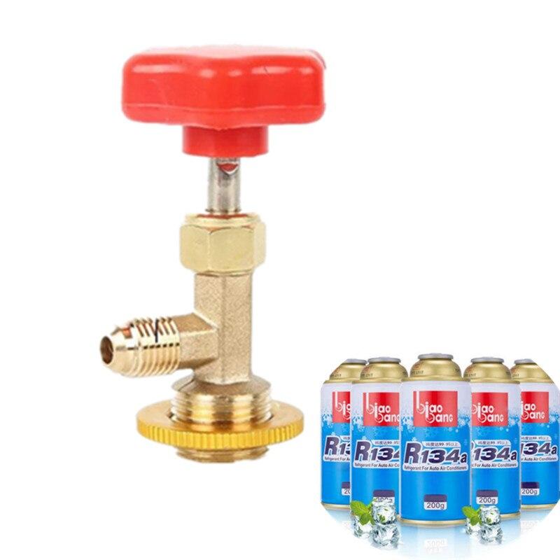 Válvula abierta r134a abridor de botellas refrigerantes herramientas de aire acondicionado Freon Refrigerant Can abridor CT338 339 R12 R600A R22 R134A