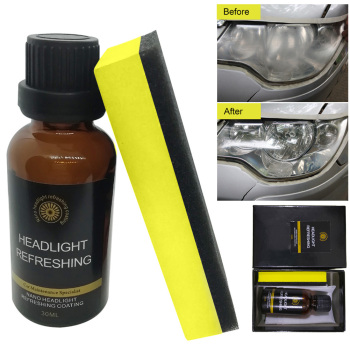 30ML Car Headlight Repair Coating Solution Repair Kit Oxidation Rearview Coating Headlight Polishing Anti-scratch Liquid 30ml hardness 10h super hydrophobic car glass coating car liquid coat paint care durability anti corrosion coating set
