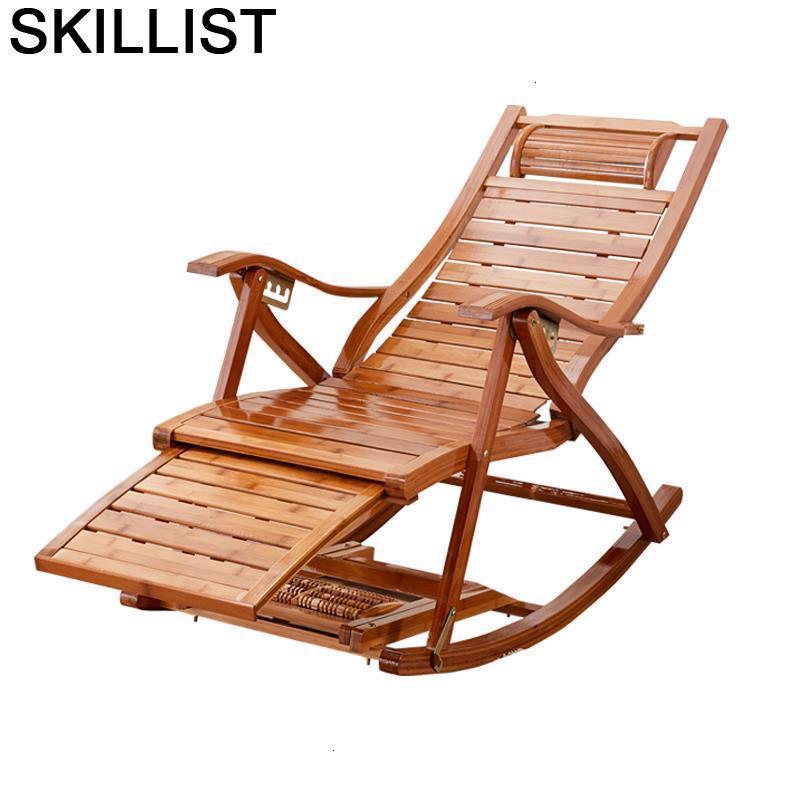 Lazy Chaise Bureau Rocking Sillones Moderno Para Sala Sillon Reclinable Cama Plegable Bamboo Folding Bed Recliner Chair