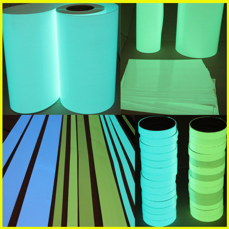 Reflective Fluorescent Sticky Adhesive Tape Film Paper, Noctilucent Tape, Night Have Shining Adhesive Tape