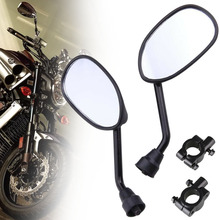 2PCS Black Motorbike Wing Rear View Side Mirror For Universal 22 MM Handlebar Motorcycle Scooter ATV Off-road