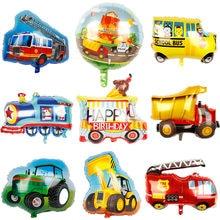 Novo carrinho de sorvete de alumínio trator bulldozer caminhão de bombeiros ambulância ônibus escolar transporte balão da folha de alumínio