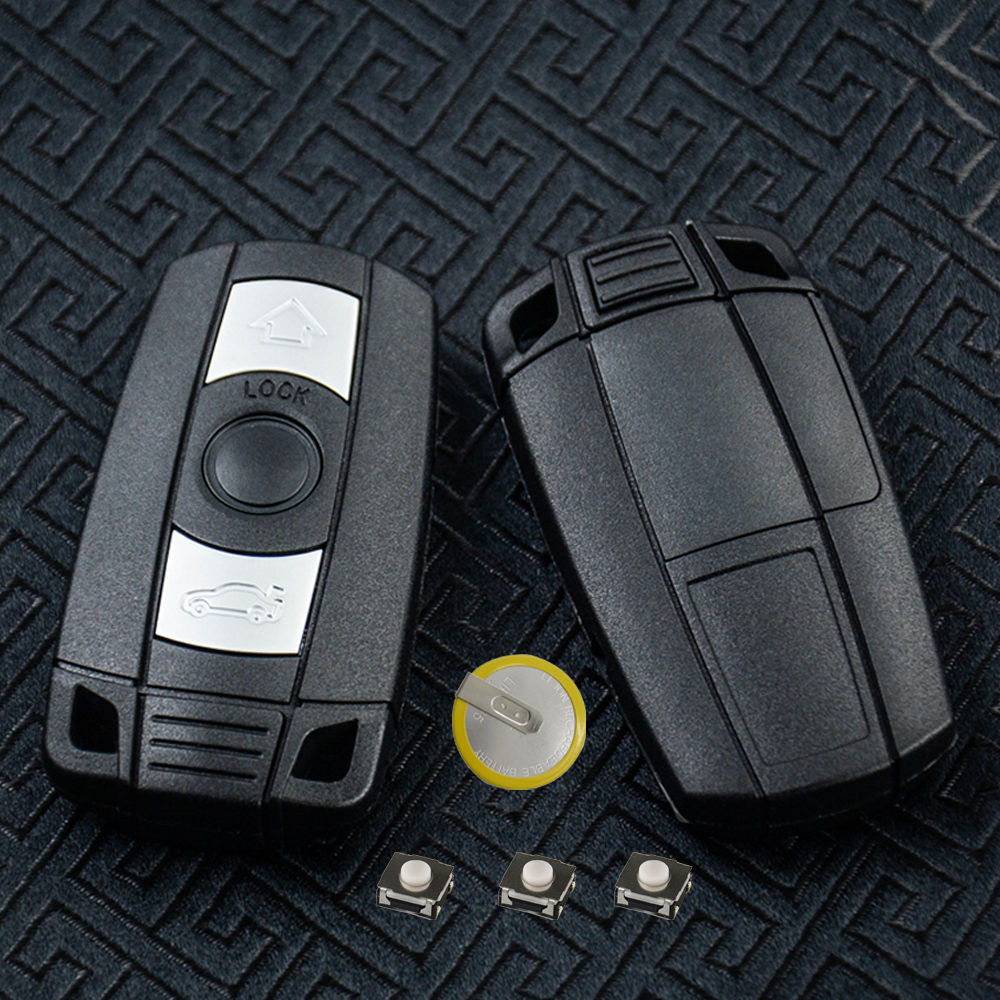 OkeyTech for <font><b>Bmw</b></font> 1/3/<font><b>5</b></font>/6/7 <font><b>Series</b></font> E90 <font><b>E60</b></font> F10 f30 Remote Key Cover Fob Case Holder Blank Replacement Keys & Battery Blade Switch image