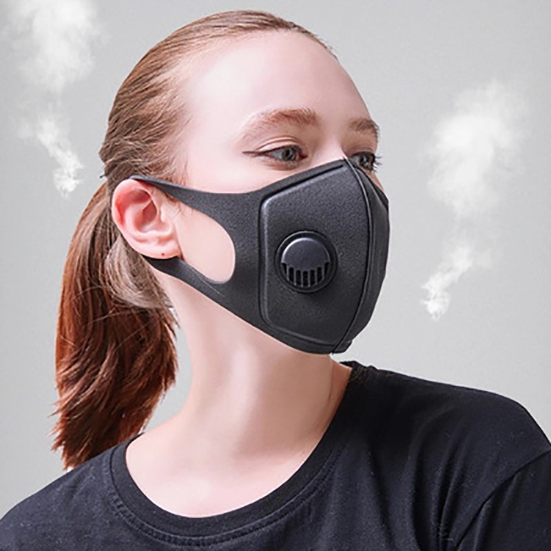Half Face Mouth Mask Unisex Sponge Dustproof PM2.5 Pollution With Breath Wide Straps Washable Reusable Muffle Respirator