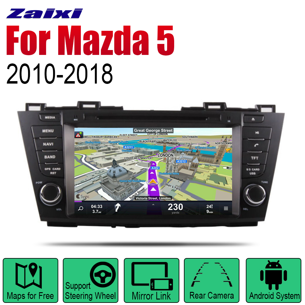 ZaiXi Android Car Radio Stereo GPS Navigation For <font><b>Mazda</b></font> <font><b>5</b></font> 2010~2018 Bluetooth wifi <font><b>2din</b></font> Car Radio Stereo Multimedia Player Audio image