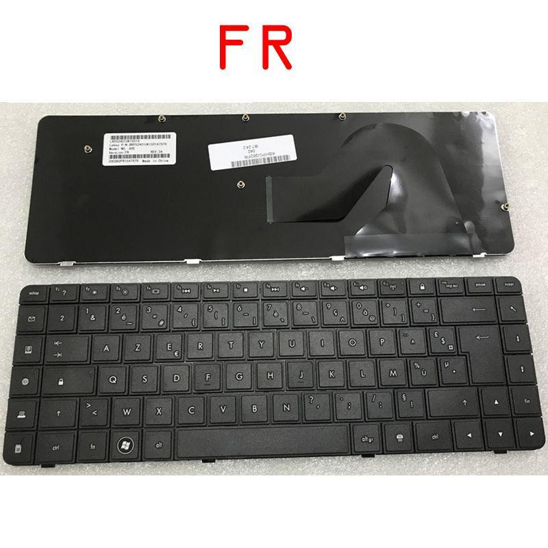 GZEELE French Keyboard For HP Compaq Presario CQ56 G56 CQ62 G62 AX6 CQ56-100 FR 605922-051 AZERTY