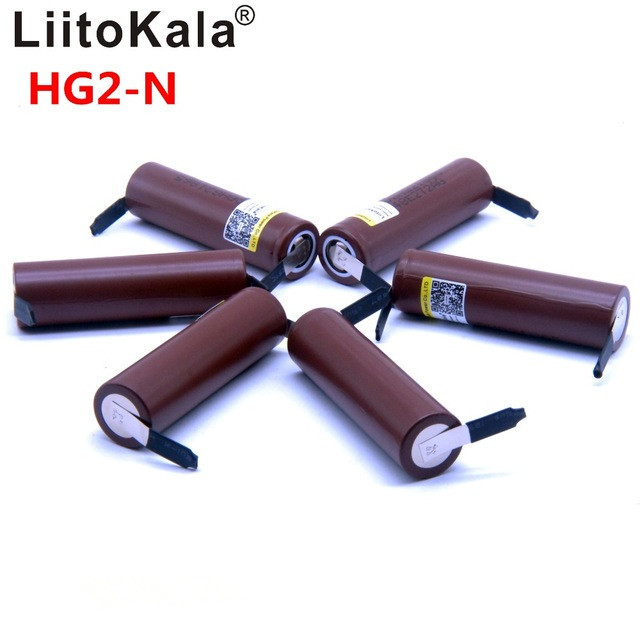 2019 8PCS Liitokala neue HG2 18650 3000mAh batterie 18650HG 2 3,6 V entladung 30A, gewidmet batterien + DIY Nickel