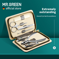 MR.GREEN Set Manicure Set di contrasto di colore tagliaunghie kit di strumenti per taglierina custodia da viaggio per Pedicure in acciaio inossidabile per uomo donna