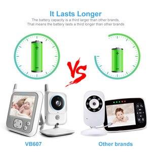 Image 4 - 3.2 Inch LCD Video Baby Monitors Wireless Babysitter Two Way Audio Night light Temperature Pet Baby Camera Nanny Music VB607