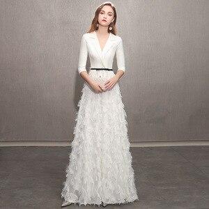 Image 2 - Gran oferta 2020, vestido de dama de honor, falda pequeña de fiesta para mostrar el traje Delgado Qiu Dong de gama alta, nueva atmósfera femenina, incluso ropa