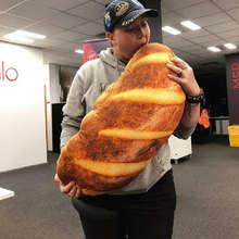 20 см имитационный хлеб подушка 3d hd печать Масло Хлеб Подушка