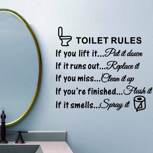Toilet Rules Dialogue Stickers 6