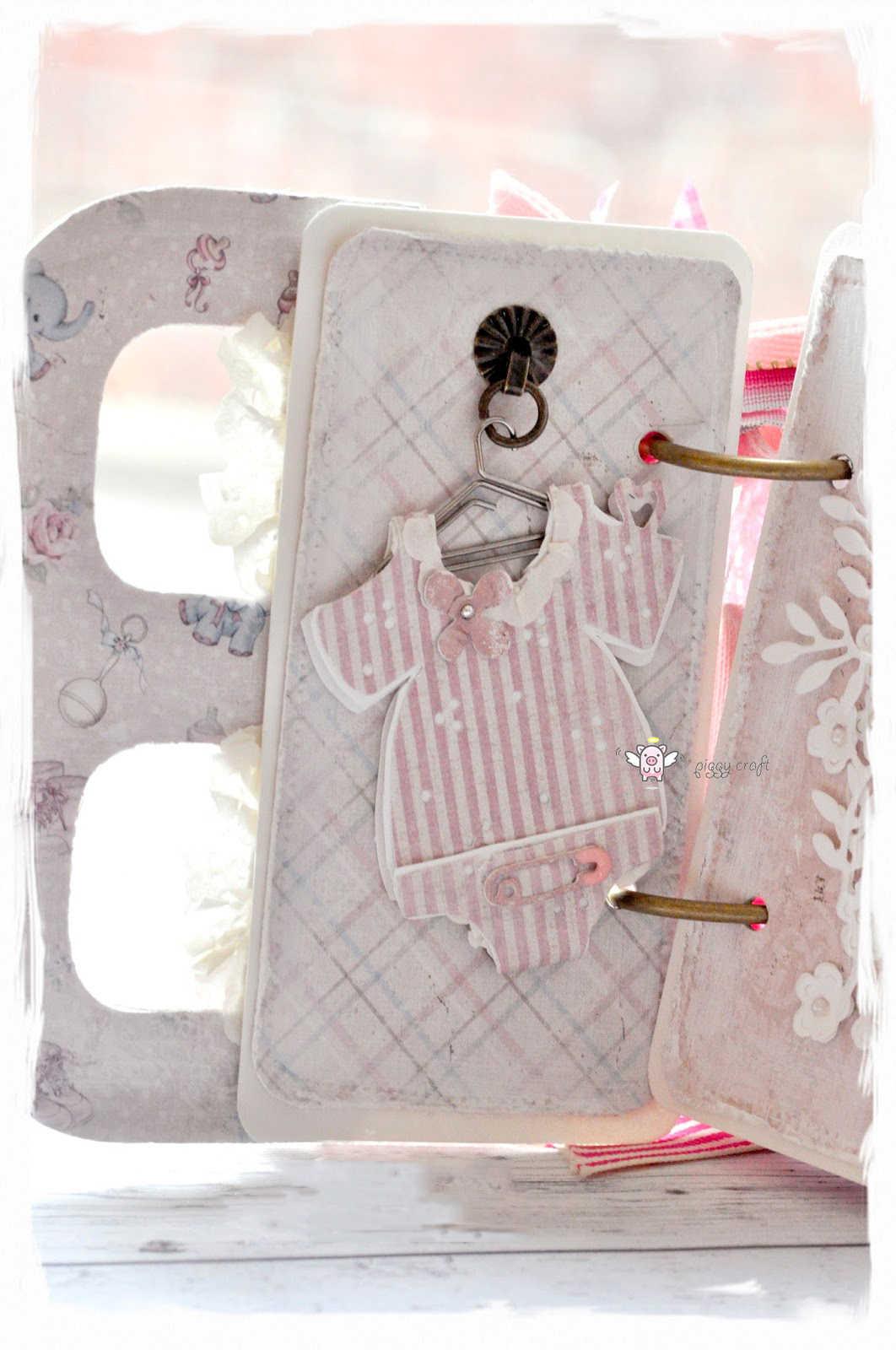 Piggy artesanía de metal de corte muere corte morir molde corazón ropa de bebé Scrapbook papel cuchillo de artesanía molde hoja golpe plantillas muere