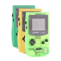 """1 pièces/lot GB garçon couleur lecteur de jeu Portable 2.7 """"Consoles de Console de jeu classiques portables avec 66 jeux intégrés rétroéclairés"""