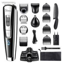 All in 1 מקצועי שיער גוזם waterproof ירד גוזם חשמלי אדם שיער מכונת חיתוך סט עבור פנים, גוף