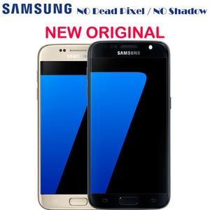 Image 1 - Nowy oryginalny wyświetlacz Amoled LCD z ramką do Samsung GALAXY S7 G930 G930A G930F SM G930F G930V ekran dotykowy LCD Digitizer