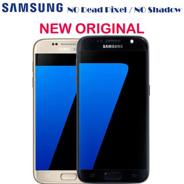 Nowy oryginalny wyświetlacz Amoled LCD z ramką do Samsung GALAXY S7 G930 G930A G930F SM G930F G930V ekran dotykowy LCD Digitizer