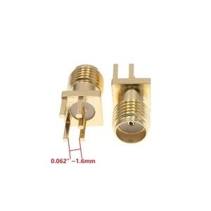 "Image 4 - 100Pcs זהב SMA שקע נקבת PCB הלחמת קליפ קצה הר RF מתאם מחבר 0.062 או 0.048"" 0.031"""