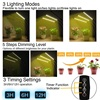 30W LED Grow Light DC 5V USB with Timer Dimmable Full Spectrum 3 Head Bulbs Flexible Clip Phyto Lamp for Plant Seedling Fitolamp promo