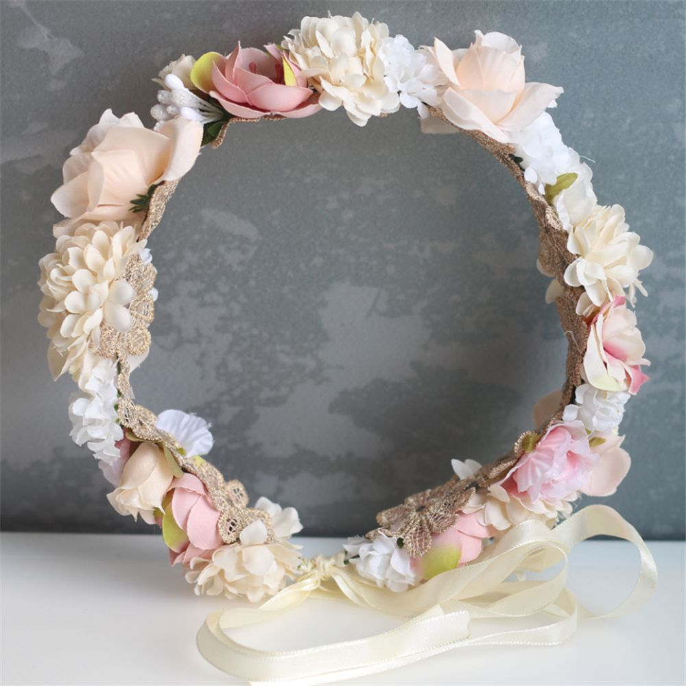 Beach Holiday Hair Wreath Crown Wedding Bridal Hair Accessories   Headwear   with A Flower Headband For Women Photography Romantic