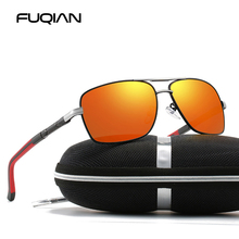 FUQIAN 2019 Luxury Square Polarized Men Sunglasses High Quality Anti-glareDriving Sun Glasses Mirror Coating Sunglass UV400 цена в Москве и Питере