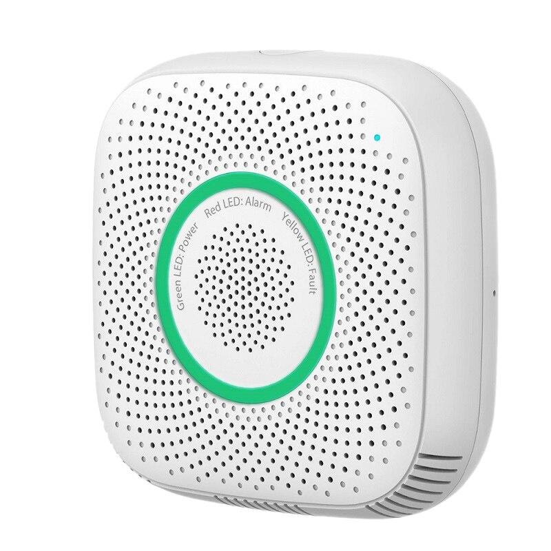 Tuya Wifi Gas Leak Detector Fire Security Alarm Safety Smart Home Leakage Lpg Sensor Combustible EU Plug